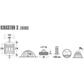 High Peak Kingston 3 Tiendas de campaña, blue/grey